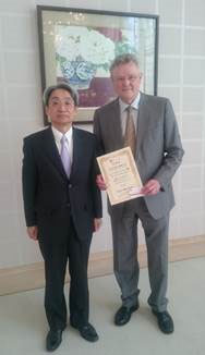 Professor Mouritzen and Ambassador Suei